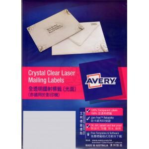 AVERY 艾利 透明多用途電腦標籤貼紙