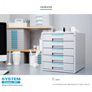 SYSMAX 鎖定型5層桌上文件櫃