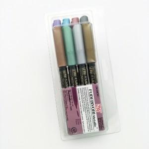 KURETAKE 吳竹 日和金屬色系軟筆刷彩繪筆 8色組