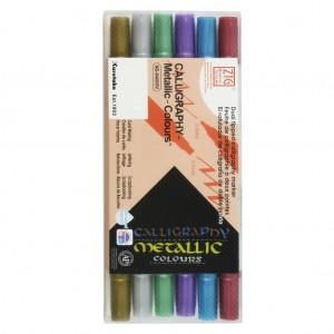 KURETAKE 吳竹 日和金屬色系平頭彩繪筆 6色組